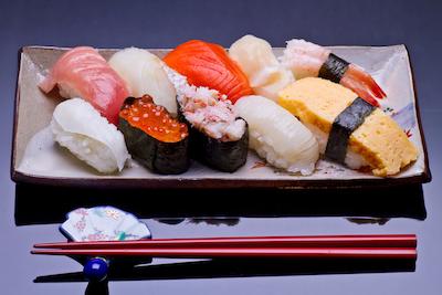 新鮮な寿司ネタ